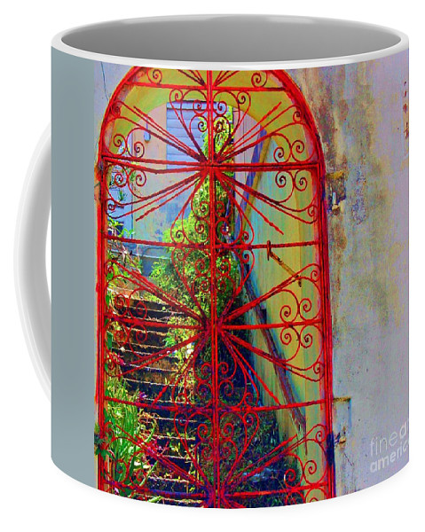 Gate Coffee Mug featuring the photograph Red Gate by Debbi Granruth