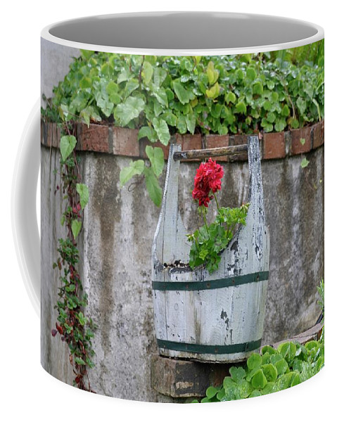Newport Coffee Mug featuring the photograph Red Geranium by Image Takers Photography LLC - Carol Haddon