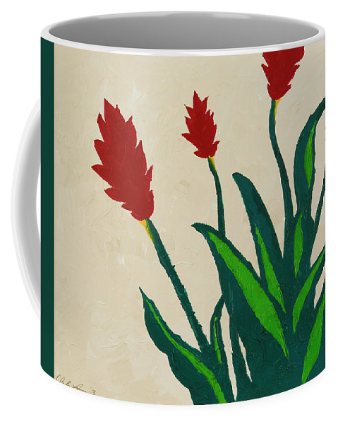 Red Ginger Coffee Mug featuring the painting Red Ginger by Chelsie Ring