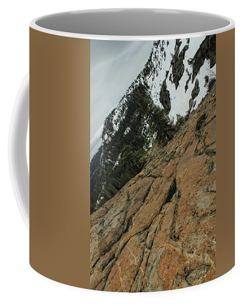 Rock Coffee Mug featuring the photograph Red Granite by Donna Blackhall