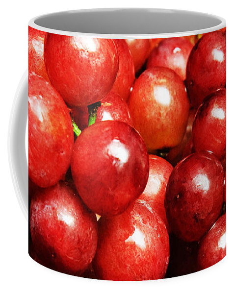Grapes Coffee Mug featuring the photograph Red Grape Pano by Andee Design