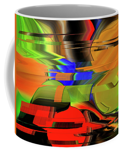 Red Green Yellow Blue Coffee Mug featuring the digital art Red Green Yellow Blue by Michael L McKinley