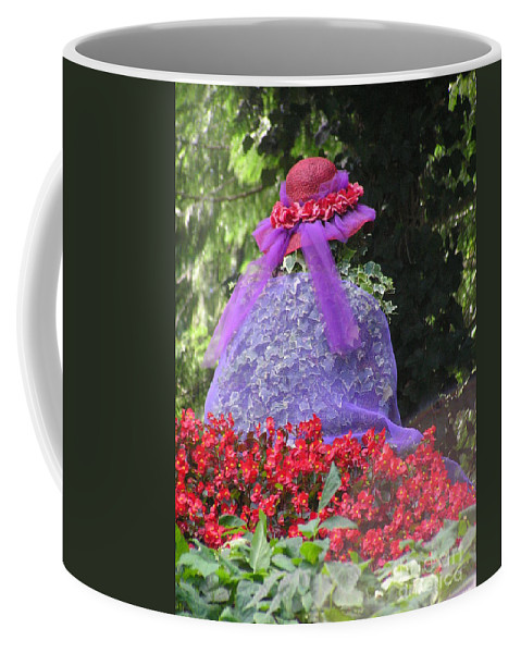 Red Hat Coffee Mug featuring the photograph Red Hat Veil by Louise Magno
