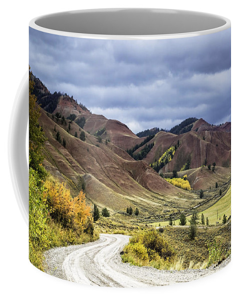 Red Hills Coffee Mug featuring the photograph Red Hills Autumn Color by Daryl L Hunter