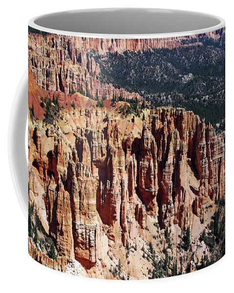Canyon Coffee Mug featuring the photograph Red Hoodoos Of Bryce Canyon National Park by Kathleen Mays