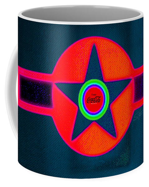 Usaaf Coffee Mug featuring the painting Red Intense by Charles Stuart