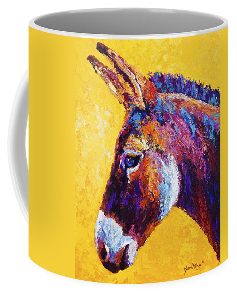 Burro Coffee Mug featuring the painting Red Jenny by Marion Rose