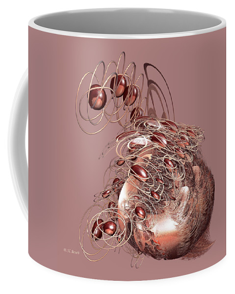 Incendia Coffee Mug featuring the digital art Red Jewels by Deborah Benoit