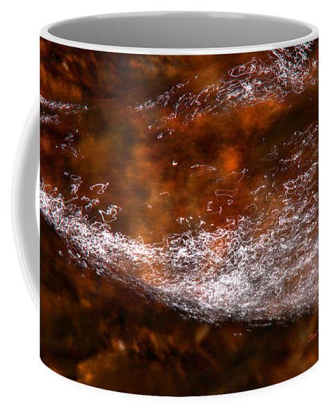 Water Coffee Mug featuring the photograph Red Lightening by Donna Blackhall