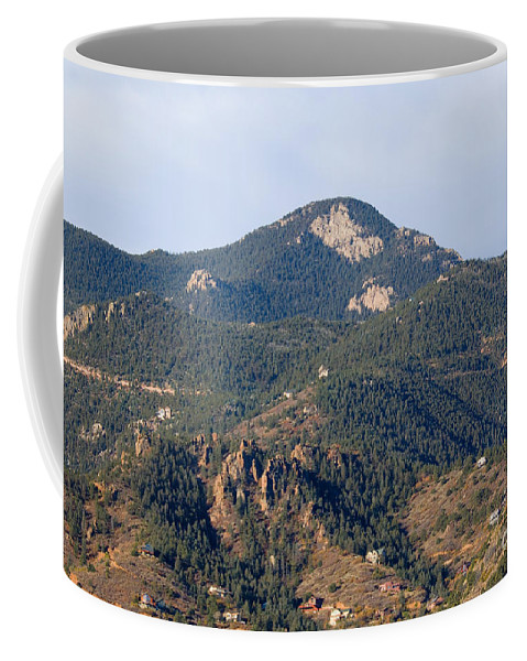 Red Mountain Coffee Mug featuring the photograph Red Mountain In The Foothills Of Pikes Peak Colorado by Steve Krull