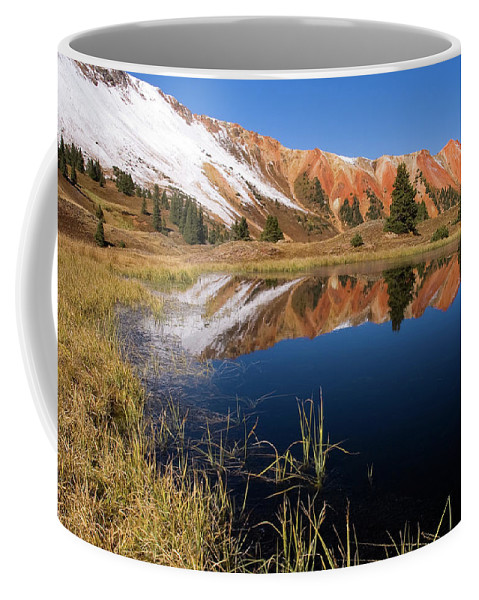 Colorado Coffee Mug featuring the photograph Red Mountain Reflection by Steve Stuller