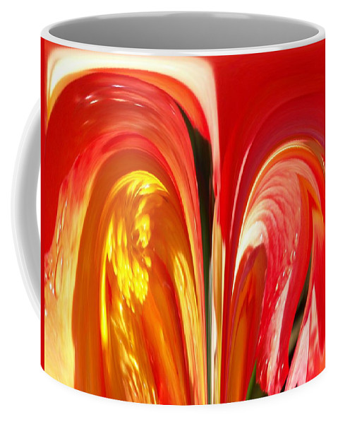 Flowers Coffee Mug featuring the photograph Red N Yellow Flowers 4 by Tim Allen