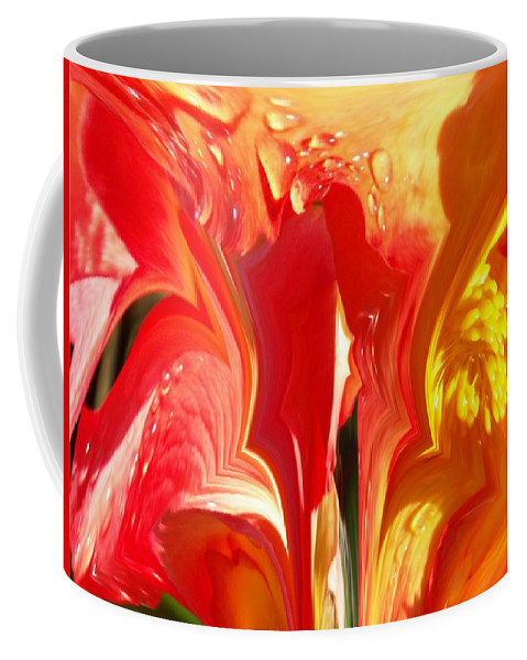 Flowers Coffee Mug featuring the photograph Red N Yellow Flowers 5 by Tim Allen