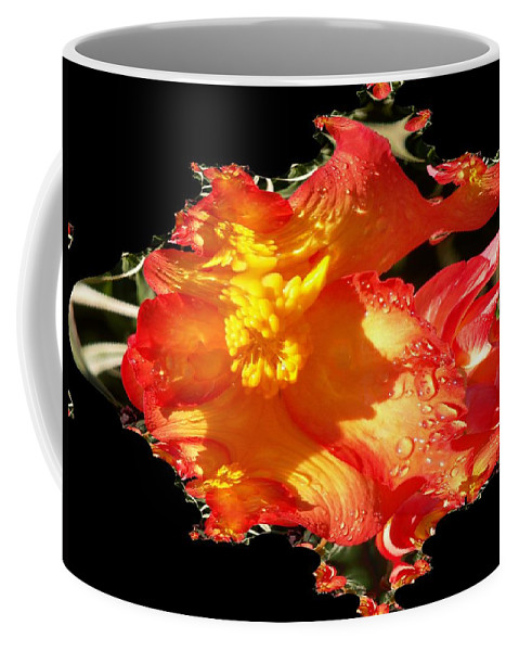 Flowers Coffee Mug featuring the digital art Red N Yellow Flowers by Tim Allen