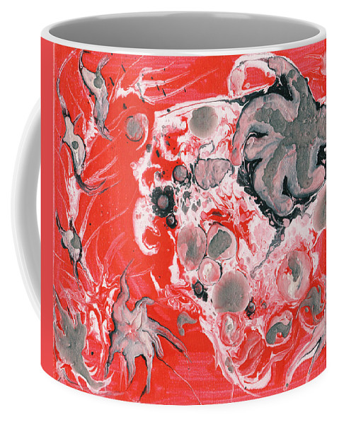 Flow Coffee Mug featuring the painting Red Nebula by Corby Bender