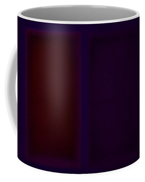Rothko Coffee Mug featuring the painting Red On Blue by Charles Stuart