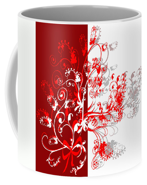 Flower Coffee Mug featuring the digital art Red Ornament by Svetlana Sewell