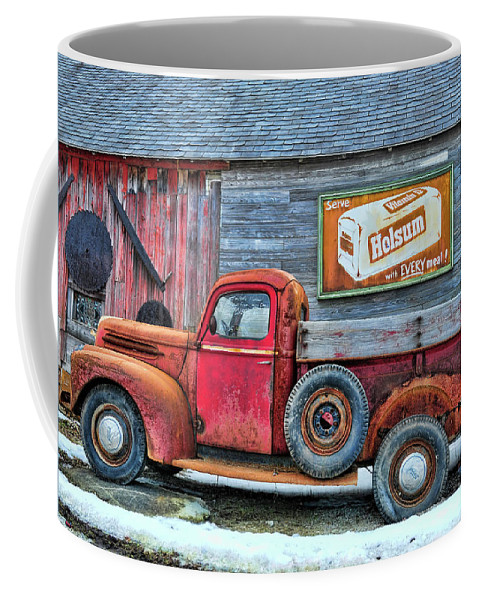 Coffee Mug featuring the photograph Red Pick Up by David Arment