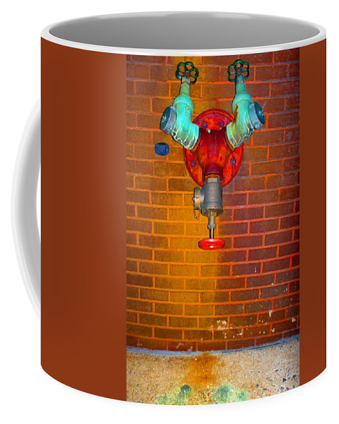 Photograph Coffee Mug featuring the photograph Red Pipe by Thomas Valentine
