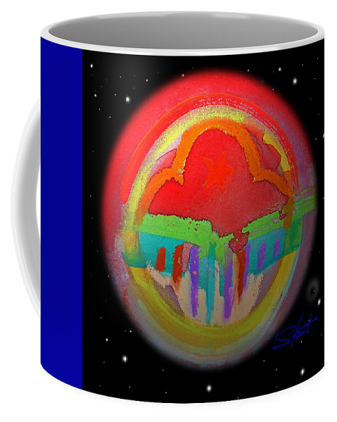 Landscape Coffee Mug featuring the painting Red Planet by Charles Stuart