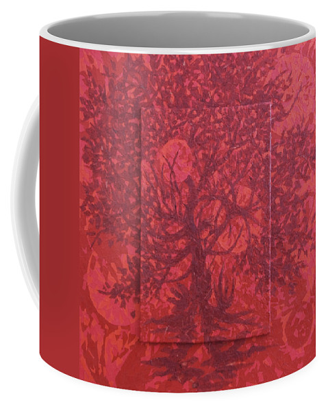 Red Coffee Mug featuring the painting Red Planet by Judy Henninger