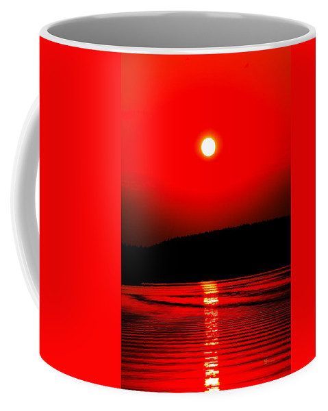 Emotion Coffee Mug featuring the photograph Red Power by Max Steinwald