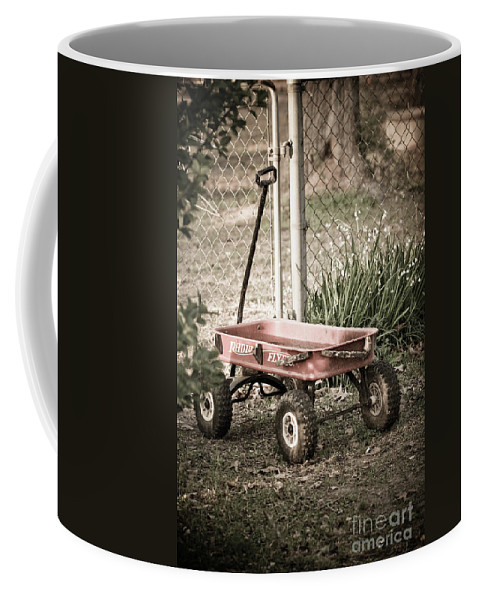 Childs Wagon Coffee Mug featuring the photograph Red Rider by Kim Henderson