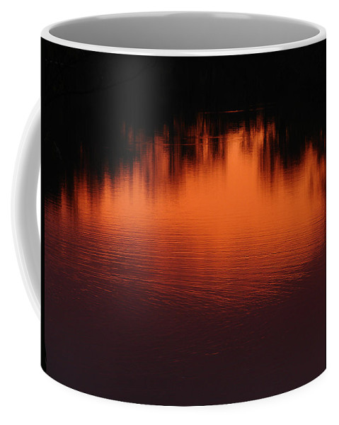 Red Sun Set Coffee Mug featuring the photograph Red Ripples by J R Seymour