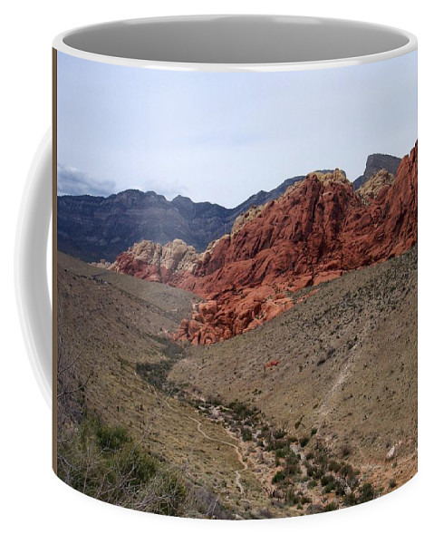 Red Rock Canyon Coffee Mug featuring the photograph Red Rock Canyon 1 by Anita Burgermeister