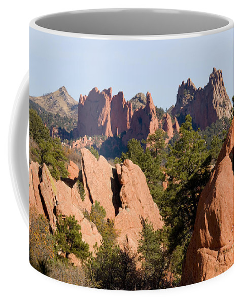 Garden Of The Gods Coffee Mug featuring the photograph Red Rock Canyon And Garden Of The Gods by Steve Krull