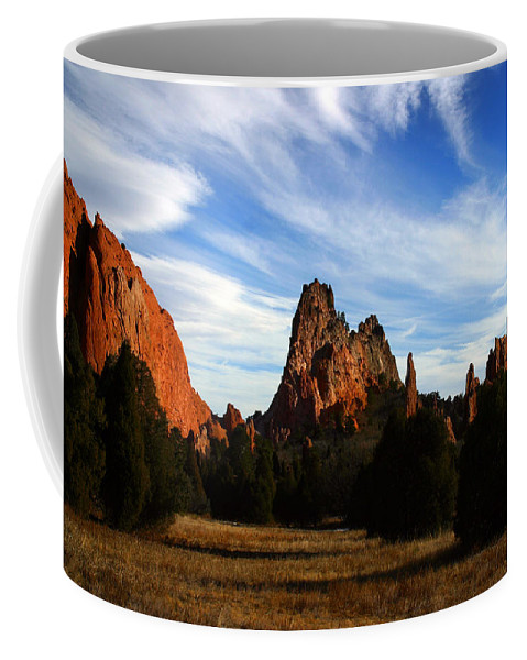 Garden Of The Gods Coffee Mug featuring the photograph Red Rock Formations by Anthony Jones