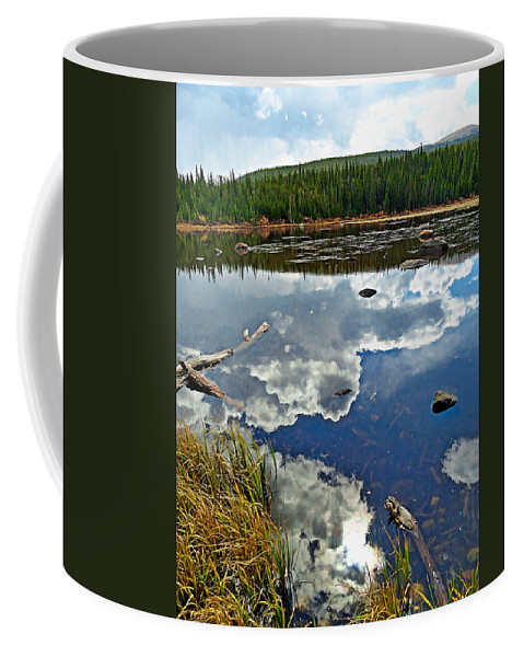Red Coffee Mug featuring the photograph Red Rock Lake Fall Study 2 by Robert Meyers-Lussier