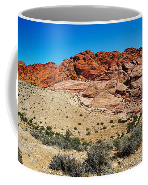 Landscape Coffee Mug featuring the photograph Red Rock Mountain by Steve Ondrus