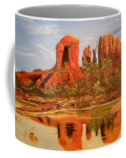 Rocks Coffee Mug featuring the painting Red Rock by Patrick Trotter
