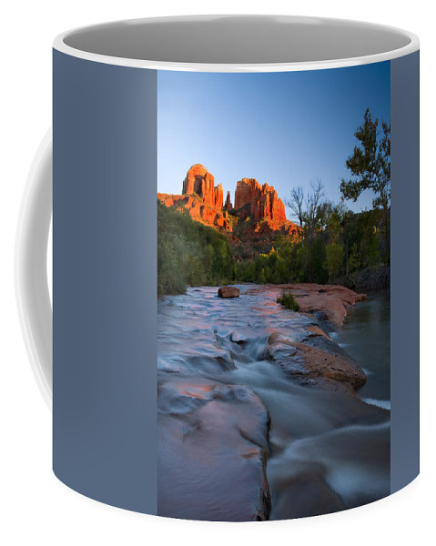 Cathedral Rock Coffee Mug featuring the photograph Red Rock Sunset by Mike Dawson
