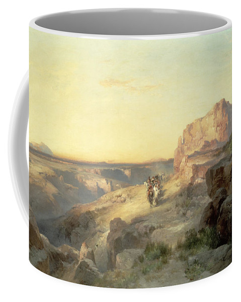 Thomas Moran Coffee Mug featuring the painting Red Rock Trail by Thomas Moran
