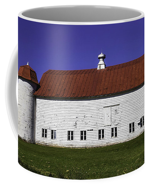 Red Coffee Mug featuring the photograph Red Roof Barn Vermont by Garry Gay