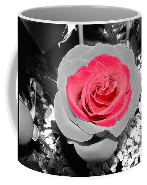 Rose Coffee Mug featuring the photograph Red Rose by DeeLon Merritt