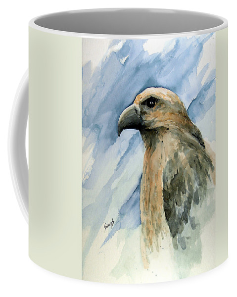 Bird Coffee Mug featuring the painting Red by Sam Sidders