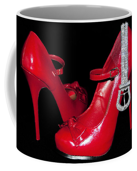Stockings Coffee Mug featuring the photograph Red Shoes by Svetlana Sewell