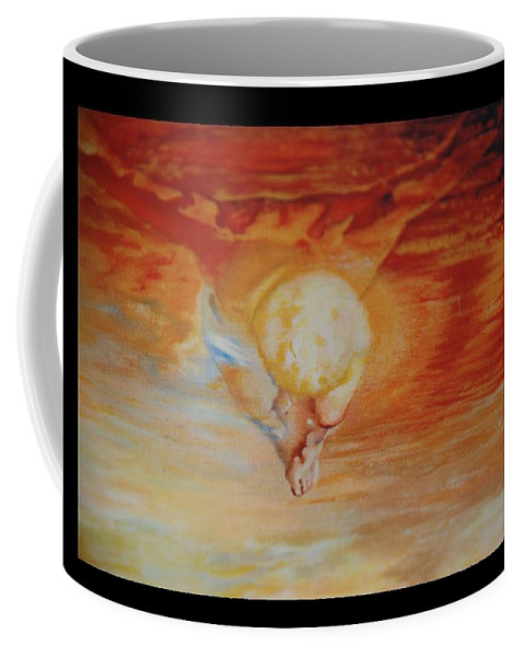 Angels Coffee Mug featuring the photograph Red Sky by Rob Hans