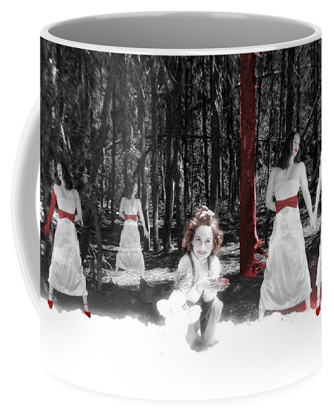 Conceptual Coffee Mug featuring the photograph Red Stains - Self Portrait by Jaeda DeWalt