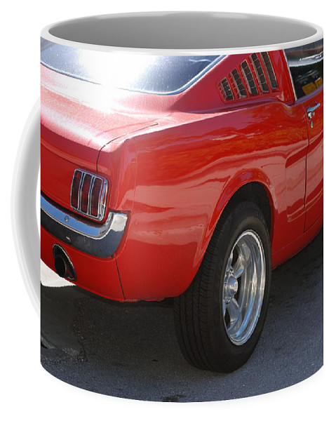 Ford Coffee Mug featuring the photograph Red Stang by Rob Hans