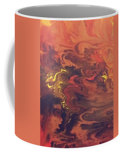 Acrylic Art Painting Coffee Mug featuring the painting Red Storm by Roy Flowers