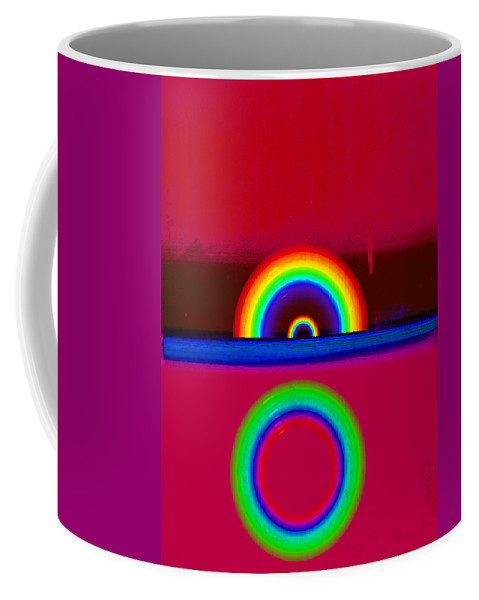 Red Coffee Mug featuring the painting Red Sunset by Charles Stuart