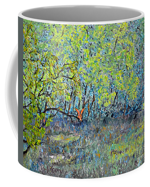 Bird Of Prey Coffee Mug featuring the painting Red-tailed Hawk by Richard Wandell