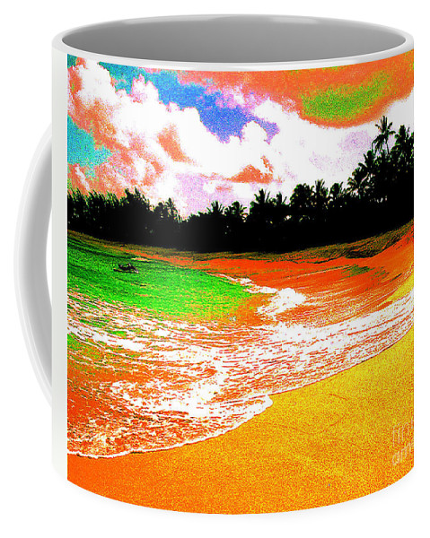 Beach Coffee Mug featuring the photograph Red Tide Green Tide by Jerome Stumphauzer