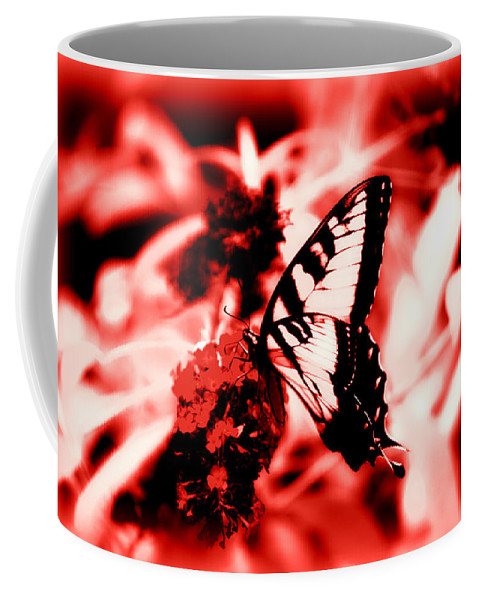 Red Coffee Mug featuring the photograph Red by Tina Meador