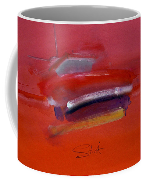 Fishing Boats Coffee Mug featuring the painting Red Trawler by Charles Stuart