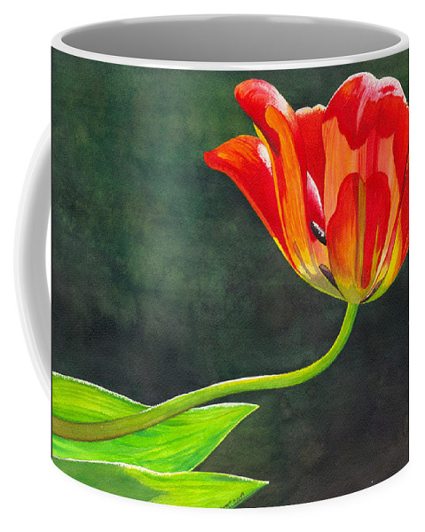 Tulip Coffee Mug featuring the painting Red Tulip by Catherine G McElroy